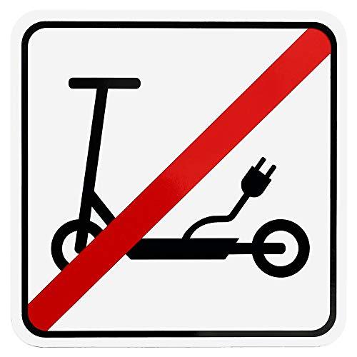 Placa magnética de prohibido el patinete, con pictograma eléctrico, resistente a la...