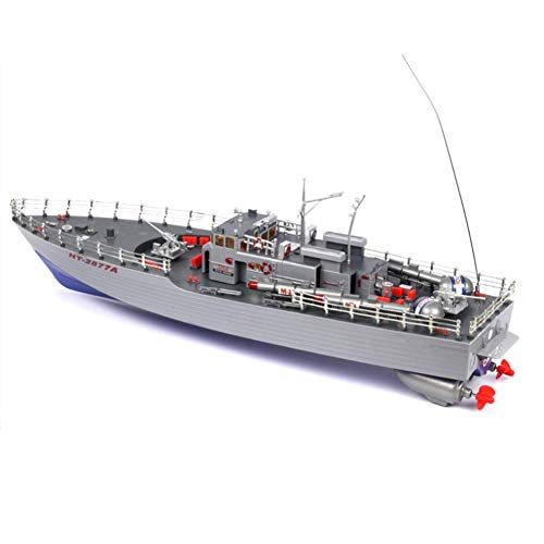 WANTOOSE HT-2877A RC Torpedo Boot 1/115 4CH großes RC Boot Militärschiff Electric Warship Aquatic Schnellboot Naval Vessel Machine Spielzeug