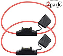 WMYCONGCONG 2 PCS Heavy Duty Inline Fuse Holder 10 Guage 60AMP Blade Fuse Holder, Large Size