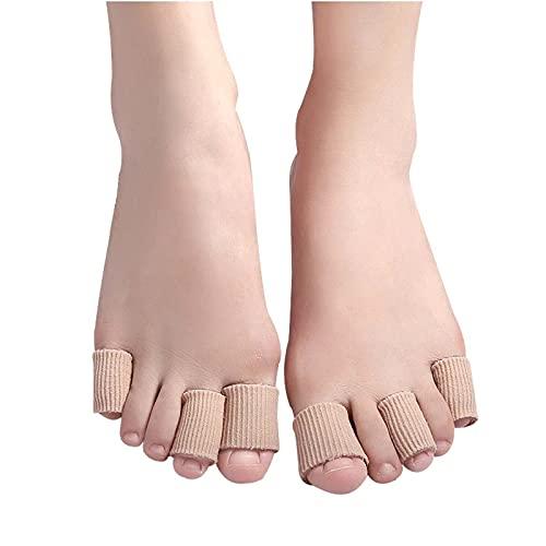HTLLT 10 Uds Tubo de Gel de Fibra Antiabrasión Protector de Dedo del Pie Pedicura Callos de Maíz Alivio del Dolor Tapa para El Cuidado de Los Pies Separador de Sílice