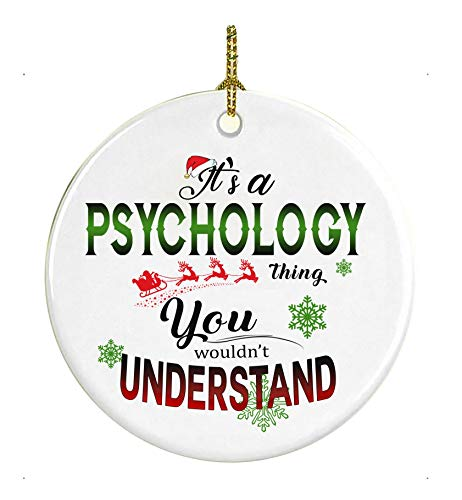 Christmas Tree Ornament 2021 It's a Psychology Thing You Wouldn't Understand Xmas Decorations For The Home Congrats On New Job Good Luck Present Ideas At Work 3' MDF Plastic