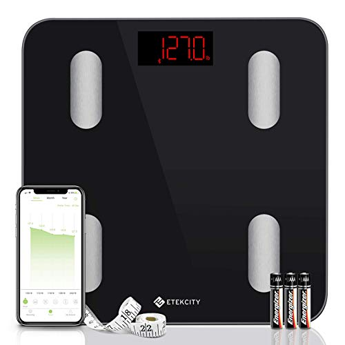 Etekcity Digital Body Weight Scale, Smart Bluetooth Body Fat BMI...