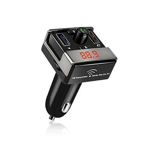 Adaptateur Radio Émetteur-Récepteur Sans Fil Bluetooth FM Voiture, 5V / 3.1A Chargeur USB Allume-Cigare, Pour Tous Les Lecteurs Audio Intelligents