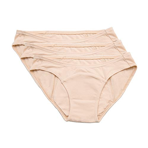 Hesta | Rael Women's Organic Cotton Period Menstrual Sanitary Protective Underwear Panties/ 3Pack...