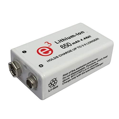 1 Piezas 9V 650mAh Batería de iones de litio Batería recargable de iones de litio de 9V