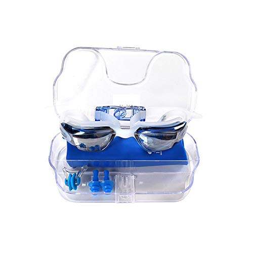Flauu Zwembril met vierdelige siliconen band voor levensmiddelen, mistlampen van polycarbonaat en duurzame glazen voor kinderen van 5 tot 15 jaar