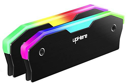upHere Memoria RAM dissipatore di Calore Rainbow Raffreddamento Gilet Fin Dissipate Radiazioni per DIY PC Game Overclocking MOD DDR DDR3 DDR4 Nero(MBK5-2)