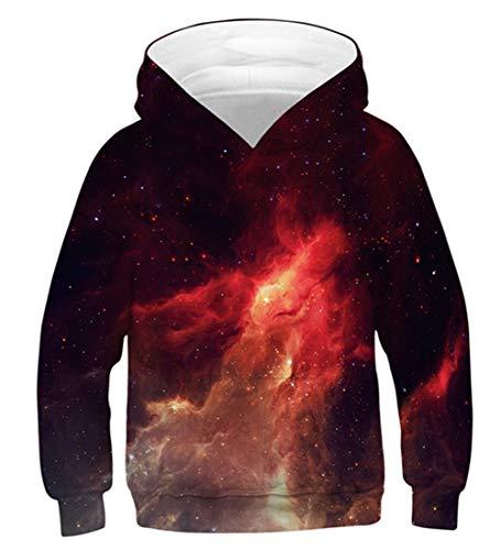 Idgreatim Teens Hoodies Hip Pop Hoody 3D Kapuzenpullover Neuheit Pullover Halloween Weihnachten Sweatshirt S