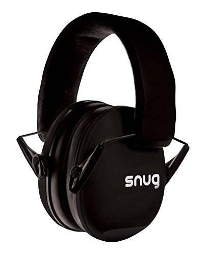 Snug Kids Earmuffs/Hearing Protectors - Adjustable Headband Ear Defenders for Children and Adults (Black)