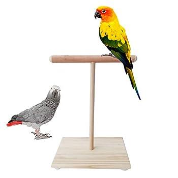 YAOYAN Perchoir Perroquet,Perchoir Oiseaux,Perchoir Perruche,Perroquet en Bois Perch T Stand Oiseau Formation Paw Broyage Jouets Pet Cockatiel Cage