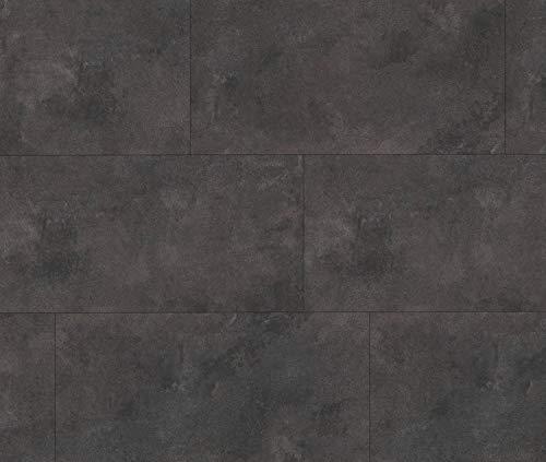HORI® Klick-Vinylboden Steinfliese anthrazit Münster anthrazit Fliese mit Microfase I für 20,50 €/m²