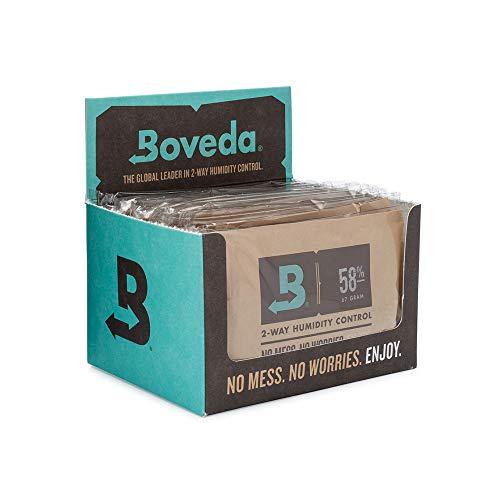 Boveda - Bolsitas para almacenar remedios naturales | Control doble de la humedad - 58% HR | Tamaño 67 para un máximo de 450g | Previene la pérdida de terpenos | Pack de 12