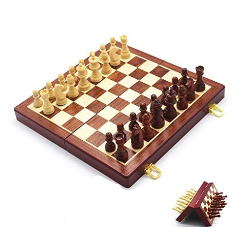 kiter Ajedrez Juego de ajedrez de Madera Plegable con Almacenamiento Interno Internacional Magnético Piezas de ajedrez Piezas de ajedrez Juego Juego Juego de Ajedrez (tamaño : 30cm)
