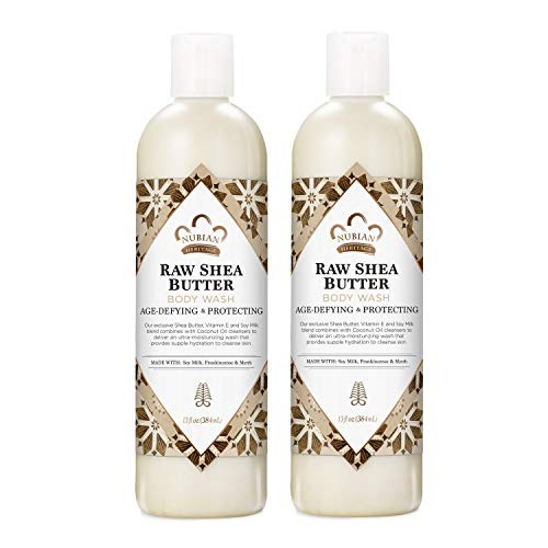 Nubian Heritage Body Wash for Dry Skin Raw Shea Butter Paraben Free Body Wash 13 oz 2 Count