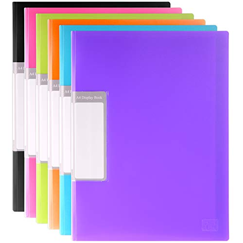 H&S 6 Display Folders A4 30 Pockets Display Book Presentation Project...