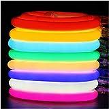 XUNATA Flexible Neon Luz de 360º (Diámetro 14mm), Tiras de LED 220V 2835 120 led/m, IP67 Impermeable Exterior Strip Lights Luminoso Decoracion (6m, Rosa)