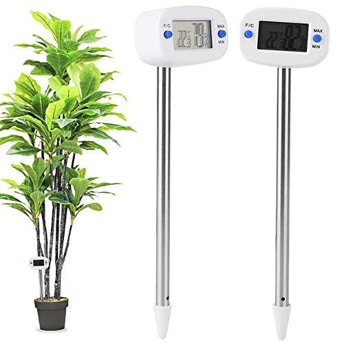 Angelay-Tian Feuchtigkeitszähler Mini Elektronische Bodentemperatur Feuchtigkeitsmeter Temperatur...