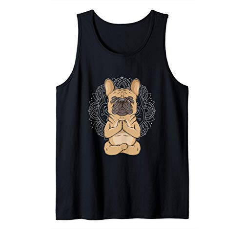 Frenchie Meditation French Bulldog Spirituality Cute Animal Tank Top
