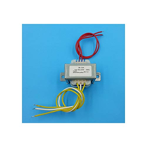 6V de entrada 9V 12V 15V 18VTransformer 220V Transformador de potencia 5 VA EI41 5 VA Transformador para el tablero del preamplificador,18V