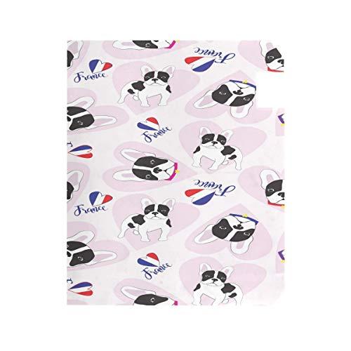 ZZKKO France Bulldog Love Magnetic Mailbox Cover Wrap Post Letter Box Cover for Outside Garden Home Decor Standard Size 20.8 x 18 Inch