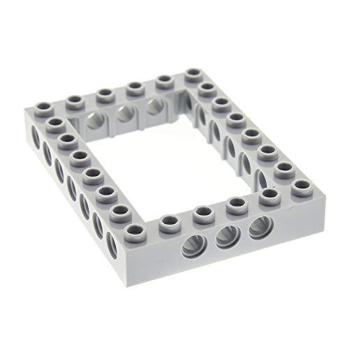 1 x Lego Technic Bau Rahmen Stein neu-hell grau 6x8 Lochstein Technik (Unterseite Kreuz) Set 8129 70816 10236 70620 10175 40345 32532
