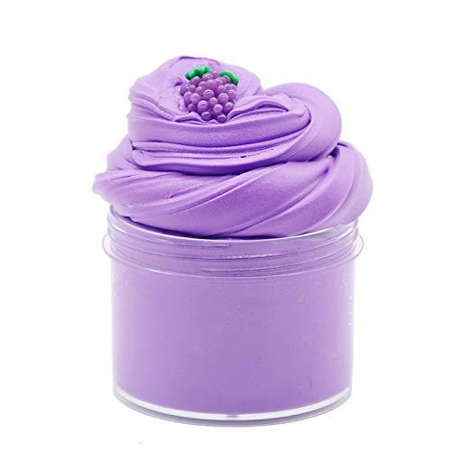 Simuer 200ml Purple Grape Fuffly Clay,Slime Clay Putty con Uvas, descompresión, Juguete para niños Arcilla de plástico con UVA a Fruta para niños