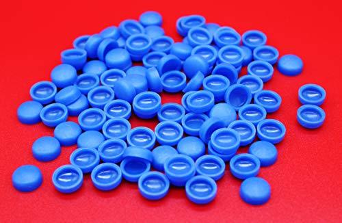Alex-OnlineShop 10x blau Abdeckkappen Kappen für Kennzeichen-Schrauben Nummerschild-Schrauben für PKW LKW Motorrad (10x Blau)