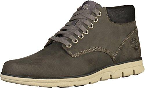 Timberland Bradstreet Chukka Leather, Stivali Uomo, Grigio (Dark Grey Full Grain), 40 EU