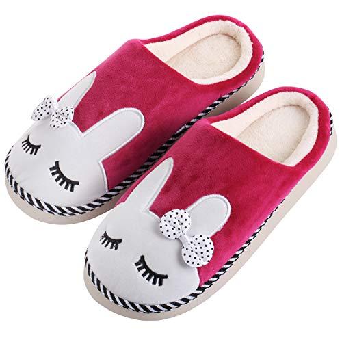 Katara - Zapatillas de Felpa de Conejo *Gran selección* Zapatillas de Animales para Hombres y Mujeres, tamaño EU 37/38, Etiqueta CN 40/41, Baya