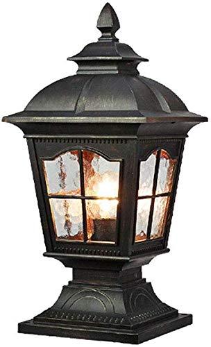 Mooie decoratieve lampen, retro, voor buiten, fitting, plafondlamp, E27, zwart, waterdicht, lampen, wevalleely, tuin, gazon, paden, verlichting, 18 x 23 x 49 cm