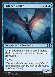 Magic The Gathering - Stitched Drake - Duel Decks: Blessed vs Cursed