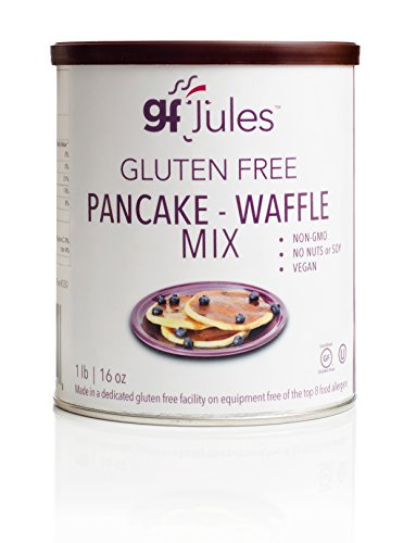 gfJules Gluten Free Pancake & Waffle Mix - Voted #1 by GF Consumers, 1 lb Can, Pack of 1