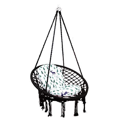ZZZR Garden Hangstoel - Draagbare Travel Camping Hangende Hangmat Swing Chair 300 lbs Hangmatten, Outdoor en Indoor Gebruik Zwart