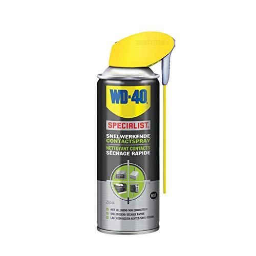 WD-40 Spezialist, schnell wirkendes Kontaktspray mit Smart Straw, Wartung und Reinigung von Elektrik und Elektronik, 250 ml