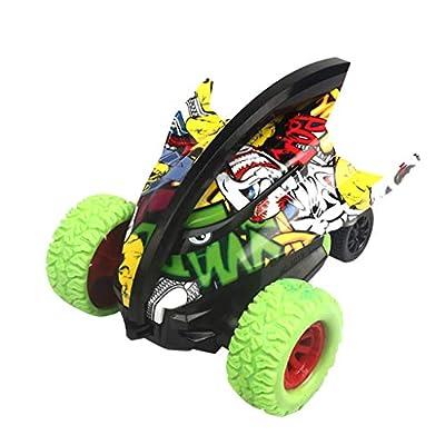 Amazon - Save 70%: Inertial 360° Rotation Stunt Graffiti Car Off Road Shark Car Vehicle Kids Toy (Green)
