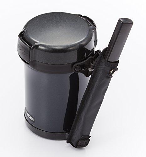 タイガー魔法瓶保温弁当箱ステンレスランチジャー茶碗約3杯分ブラックLWU-A172-KMTiger