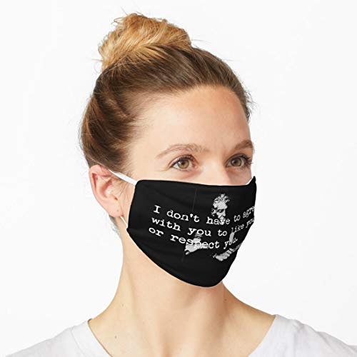 A n t h o n y B o u r d a i n Reusable And Washable Possible Blend Cover, Safety Personal Protection, With Filter And Adjustable Ear Loop Buckles 31931