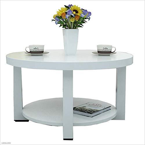 YNN Table 2-Tier Table d'appoint, Table de Bout Moderne Table Basse Ronde avec Les Tables en Bois Massif Jambe pour Balcon et Salle de séjour 5 Couleurs (Couleur : 02, Taille : 50CM)
