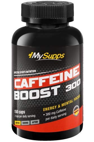 My Supps, Caffeine Boost 300 - hochdosierte Koffein Kapseln 150mg Koffein Extrakt- 150 Kapseln