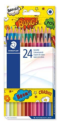 Staedtler Edition Comic - Etui Carton Double Couche 24 Crayons De Couleur Assortis