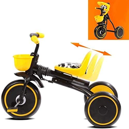 Xiaoyue Kinderfahrräder Dreirad Kinderwagen Fahrrad Kinderwagen 1-3 Jahre altes Baby Faltrad (Farbe: Gelb, Größe: 70X45X50CM) lalay (Color : Yellow, Size : 70X45X50CM)