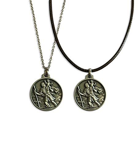 Medalla de San Cristóbal - Dark Netflix - colgante religioso - Saint Christopher - medalla - collar - santo patrono - protector viajeros