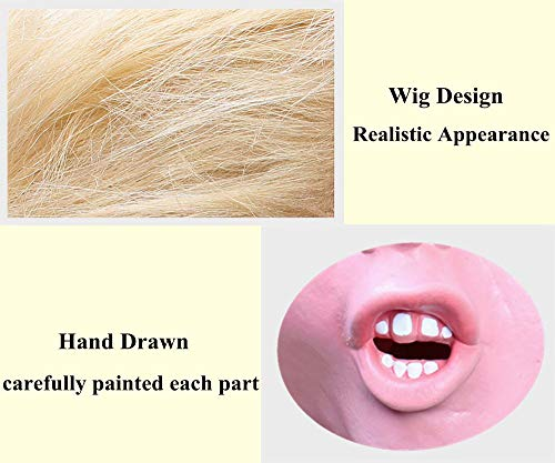 Donald Trump Mask Republican Presidential Candidate Face Mask Halloween mask Trump Masks for Adults Realistic Latex Full Head-Hair Orange Adult Size