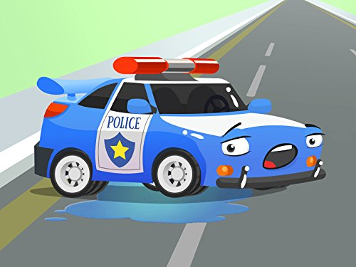 Polizeiauto Flash und das Rennauto