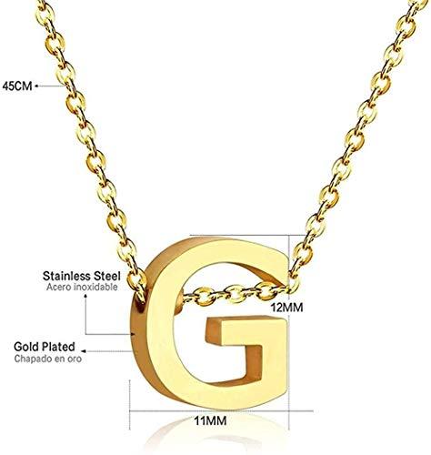 huangxuanchen co.,ltd Collar Mujer S Joyas Oro Letra Collar 26 Collar Inicial Collar