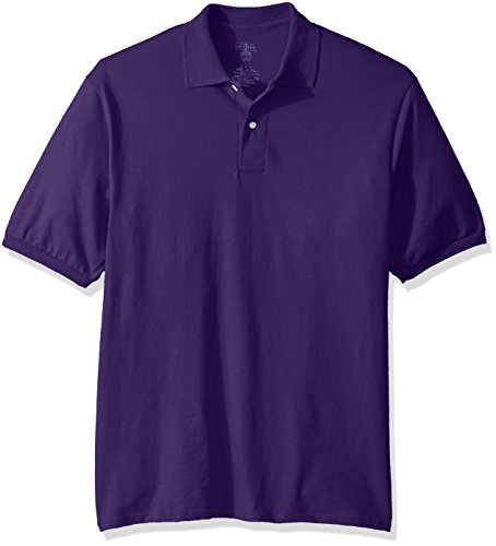 Jerzees Men's Spot Shield Short Sleeve Polo Sport Shirt, deep Purple, X-Large