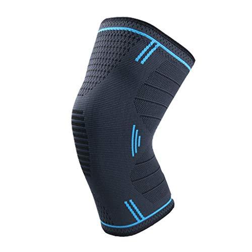 RKRCXH Gelenkstütz Knieschützer rutschfest Kniebandage Atmungsaktiv, Elastisch, for Schmerzlinderung, Meniskusrisriss, Arthritis, Kniebandage Zum Laufen (Color : Blue, Size : M)