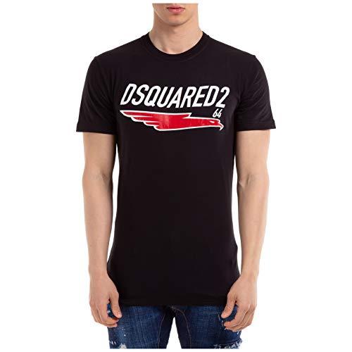 DSQUARED2 Hombre Camiseta Nero L