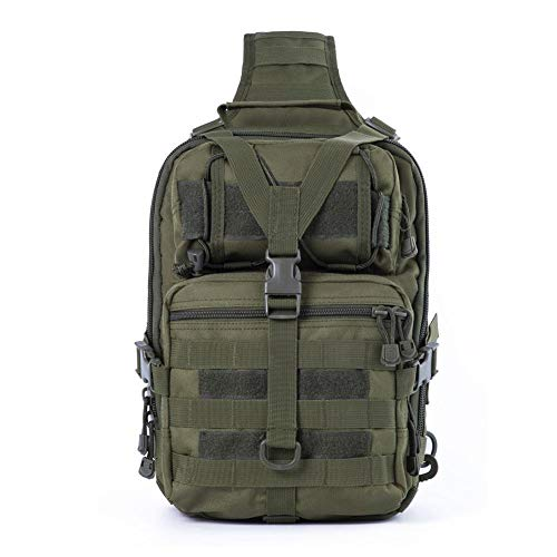 LIANA IRWIN, borsa a tracolla tattica per attività all'aperto, impermeabile, in tessuto Oxford, mimetico, borsa a tracolla, zaino tattico militare, per campeggio, caccia, escursionismo, viaggi e arrampicata, D