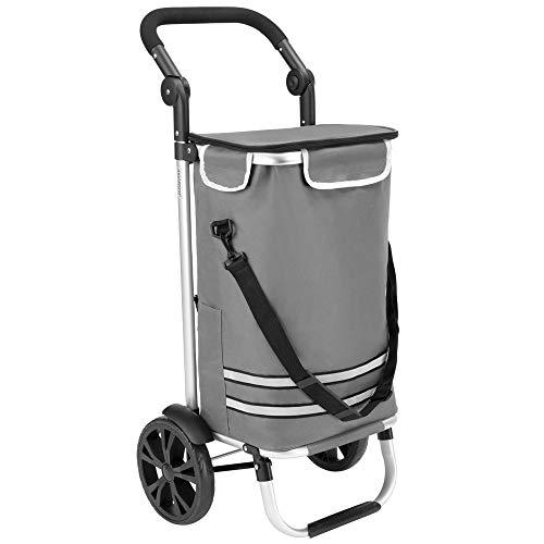 Monzana 2in1 Einkaufstrolley 56L bis 50 kg klappbar abnehmbare Tasche Handwagen Einkaufswagen Einkaufshilfe Roller Grau